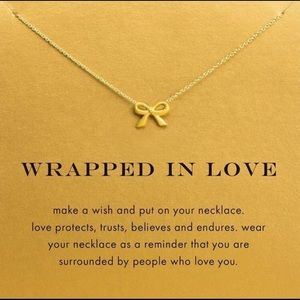 🎀 14k gold dipped Wrapped in Love Necklace